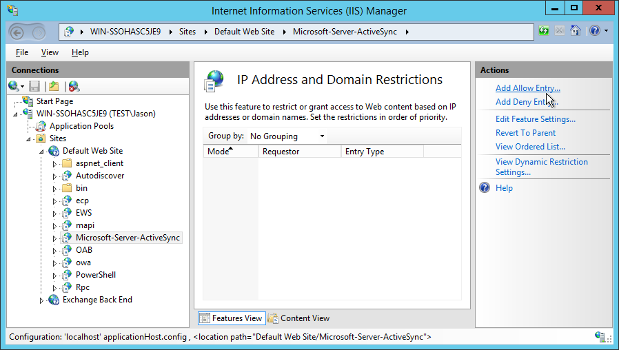 Restricting access to Exchange ActiveSync | Jason Bayton